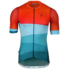 Biehler Pro Team - Maillot manches courtes Homme - orange/bleu